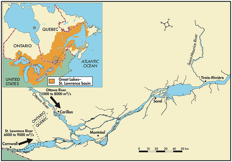 Changes In Water Levels And Flows In The St Lawrence River Plan - Us map with st lawrence river