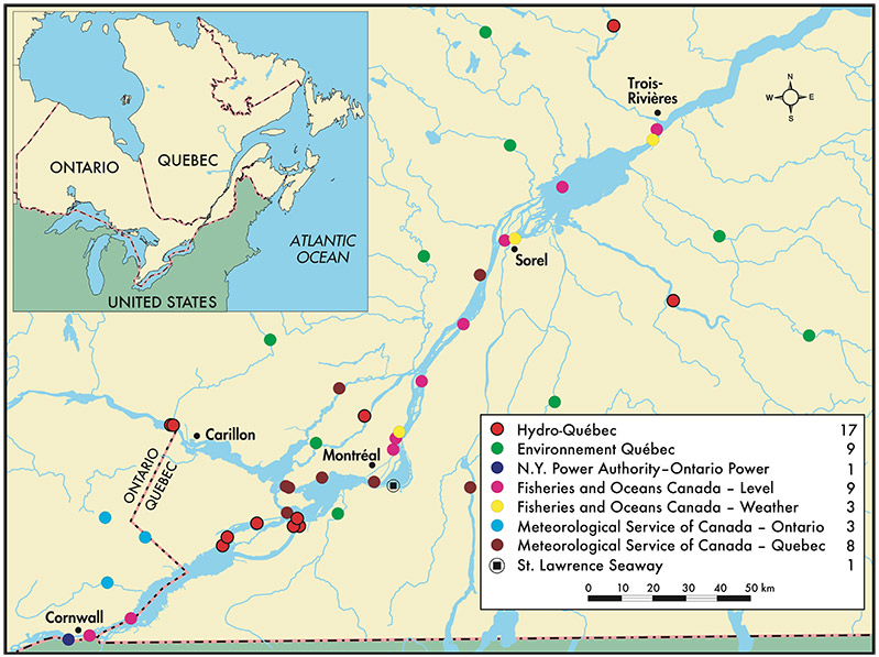 Changes In Water Levels And Flows In The St Lawrence River Plan - St lawrence river on us map