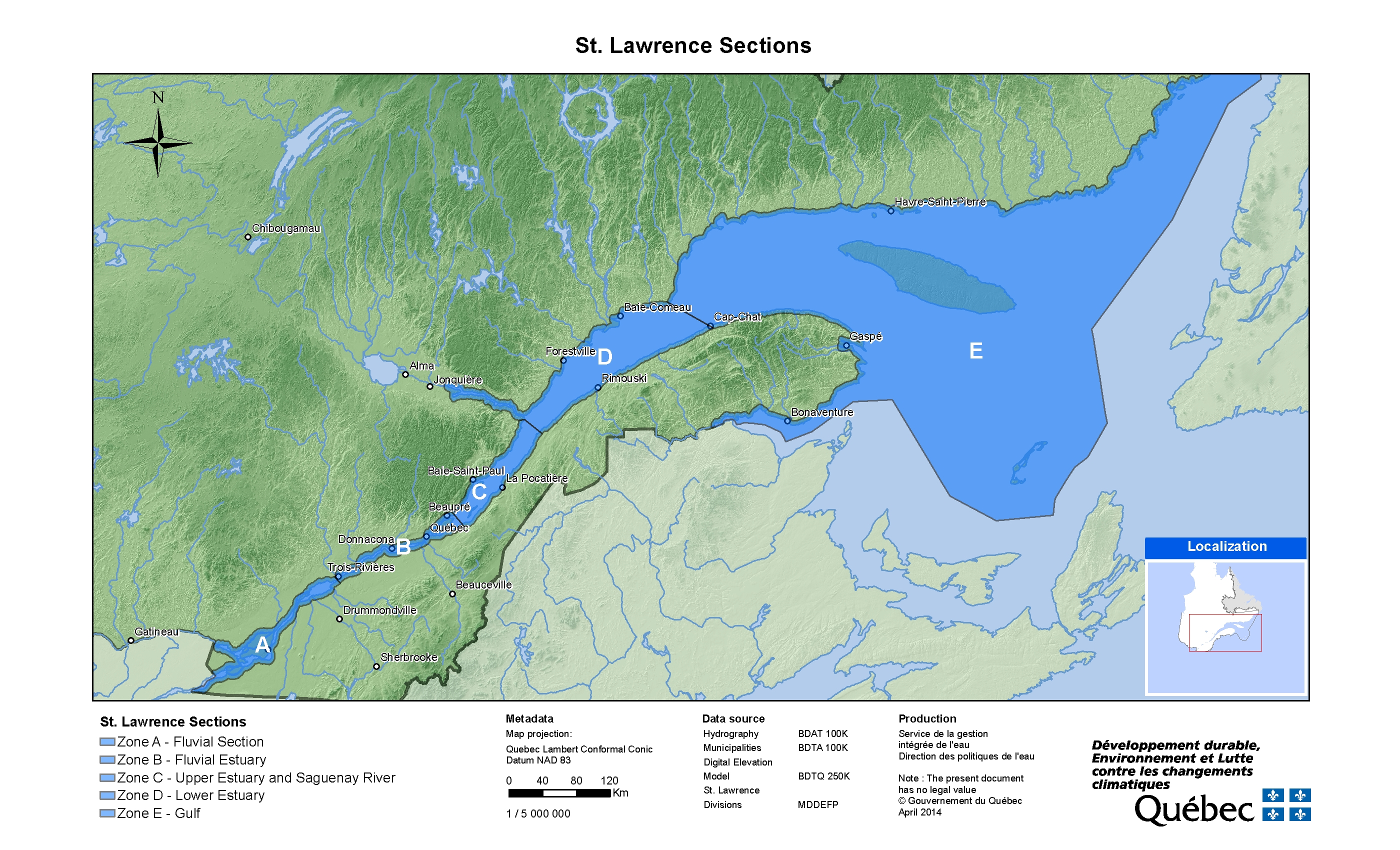 The St Lawrence Plan Daction SaintLaurent - Us map with st lawrence river