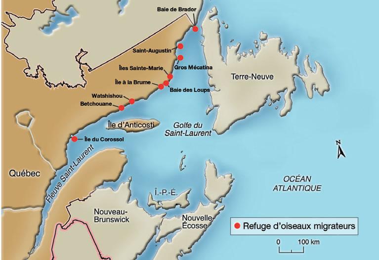 Saint-Laurent (QC) Canada  city images : Figure 1 Refuges d'oiseaux migrateurs de la Côte Nord